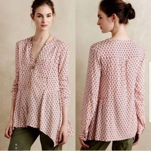Maeve Anthropologie Floral Popover Blouse